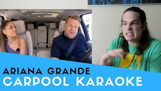 Voice Teacher Reacts to Ariana Grande Carpool Karaoke