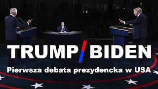 TRUMP / BIDEN | Pierwsza debata prezydencka 2020 | Polski lektor