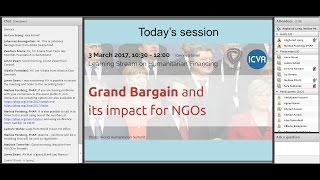 Humanitarian Financing - The Grand Bargain and its impact for NGOs