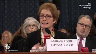 WATCH: Amb. Yovanovitch's full opening statement | Trump impeachment hearings