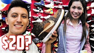 Philippines Fake Market SPREE! GREENHILLS Sneaker Shopping (Manila)