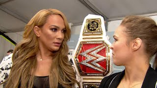 Ronda Rousey to challenge Raw Women's Champion Nia Jax at WWE Money in the Bank - Video Youtube