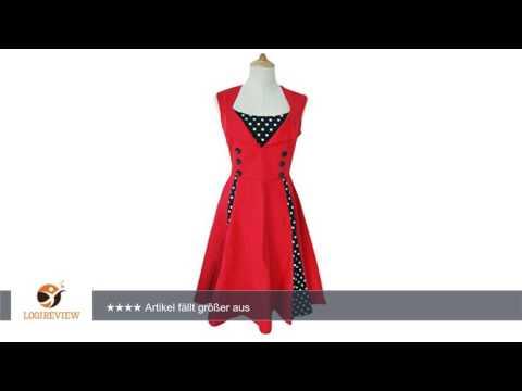 Mangotree Klassische 50er Retro Audrey Hepburn Rockabilly Schwingen Kleid Ärmellos Abendkleid |