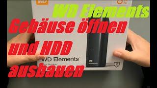 WD Elements öffnen und HDD ausbauen ohne Spuren HowTo günstige Festplatte