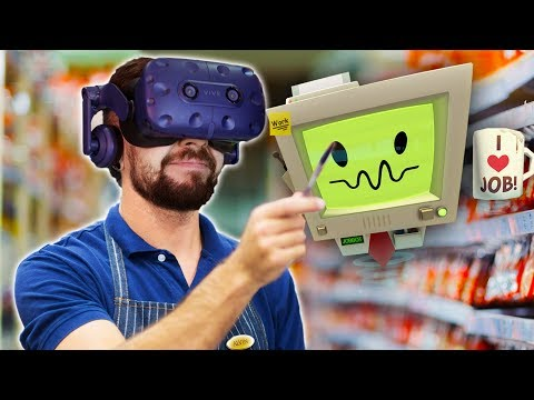 DON'T POINT YOUR BANANA AT ME | Job Simulator (HTC Vive Virtual Reality)