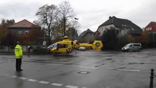 preview picture of video 'Rettungshubschrauber des ADAC Christoph 61 in Torgau am 15.10.2013'