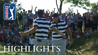 Spieth, Reed extended highlights | Day 1 | Presidents Cup - dooclip.me