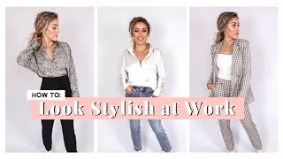 How To Look Stylish At Work | Work Outfit Ideas Ft. Express