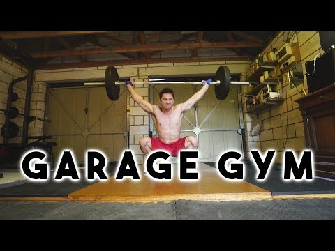 Building an olympic lifting platform and garage gym tour