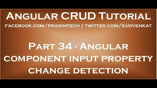 Angular component input property change detection