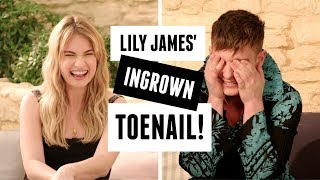 Lily James on crying the first time she met Meryl Streep! | Mamma Mia 2 interview!