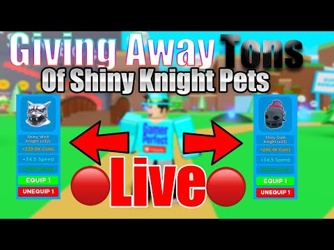 🔴⚡Giving Away TONS Of Shiny KNIGHT Pets In Magnet Simulator
