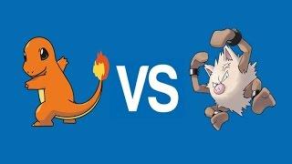 Charmander VS Primeape - Pokemon
