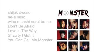 EXO - Monster  Easy Lyrics