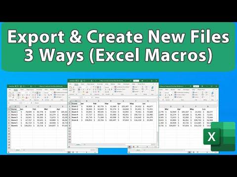 VBA/Macro Course - 3 Ways to Create New Workbooks & Save and Close Them Using a Macro