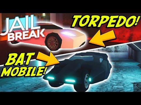NEW BATMOBILE AND TORPEDO SUPER-CARS IN JAILBREAK! (Roblox
