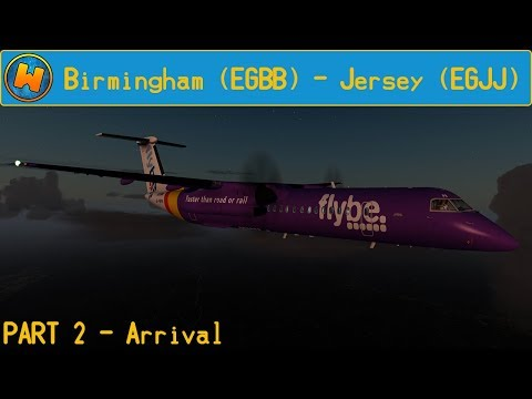 Prepar3d V4 1 - Flybe Dash 8 Q400 - Birmingham to Jersey