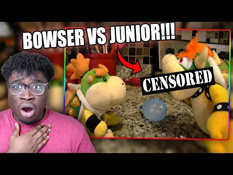 BOWSER BEATS UP BOWSER JR! | SML Movie: Bowser Junior's Doll Reaction! (видео)