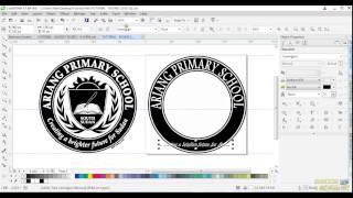 CorelDraw X7- How to design an Amazing Round Logo