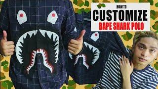 UKAY UKAY POLO to BAPE SHARK POLO (TUTORIAL)