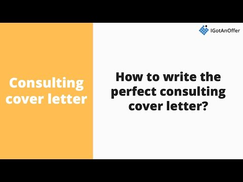 Consulting cover letter - Writing tips and template (2020 ...