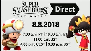 Super Smash Bros. Ultimate Direct - 3 Character Reveal Predictions!