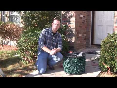 Attach Christmas Lights To Brick Walls With Hot Glue
