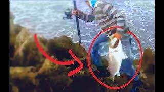 preview picture of video 'rayss faddolle   peche en skhirat / maroc loup de mer de 3kg'