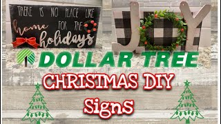 DOLLAR TREE CHRISTMAS DIY | 2 DOLLAR TREE CHRISTMAS SIGNS