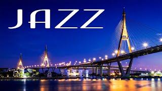 Elegant Night JAZZ Playlist - Gentle Piano JAZZ &  Lights of Night City - Night Traffic JAZZ