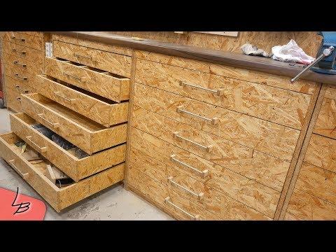 (2/3) Werkstattschrank mit Schubladen selber machen. Einfach, schnell, günstig.