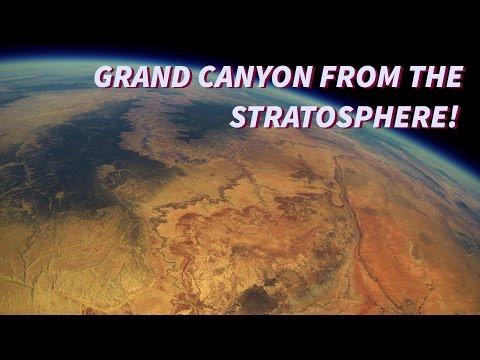 Падение в Большой Каньон из стратосферы