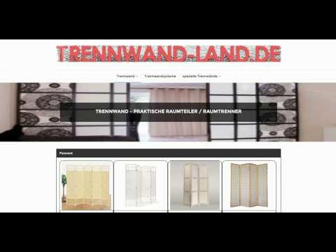 Trennwand-Land.de - kreative Wohnideen mit Trennwand, Raumteiler, Raumtrenner, Paravent