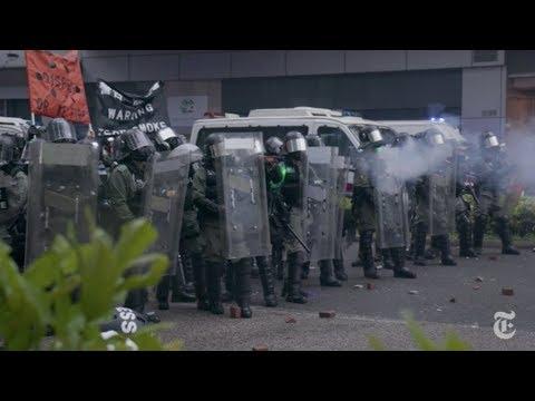 Ella es una manifestante, él un oficial de policía: en Hong Kong, los esposos también se enfrentan
