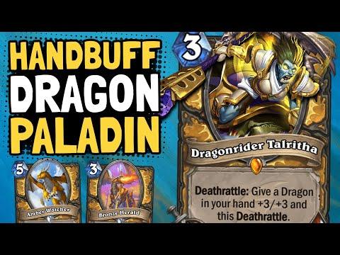 ENDLESS BUFFS! Dragon Handbuff Paladin is Actually Good!? | Descent of Dragons | Hearthstone