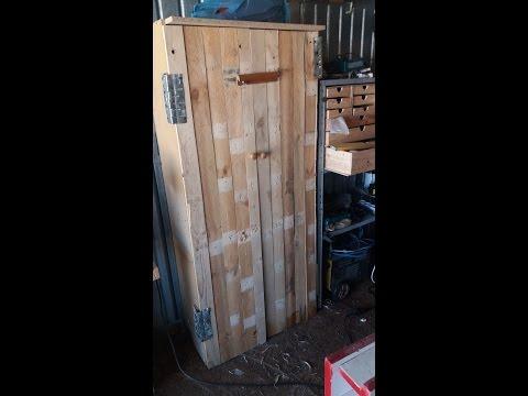 armadio a costo zero fai da te- pallets up recicled wardrobe-part 1