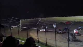 Creek County Speedway Joe Wood Jr Non Wing Champ Sprint Hard Flip 9/20/14