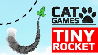 CAT GAMES - 🚀 TINY ROCKET (ENTERTAINMENT VIDEOS FOR CATS TO WATCH) 60FPS