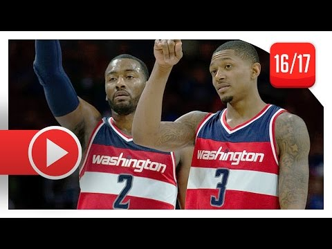 John Wall & Bradley Beal Full Highlights vs Sixers (2017.02.24) – 69 Pts Total 14 Ast for Wall!
