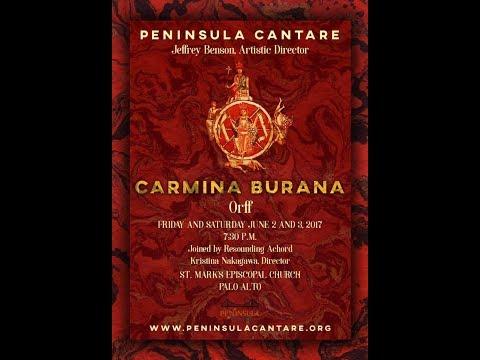 Carmina Burana Peninsula Cantare  Baritone: Brandan Sanchez Soprano: Danielle Marie Piano: Emily Hsu and Victoria Lington