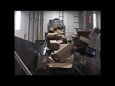 ¡Vea la Trituradora BloApCo Bodega / Centro de Distribución trabajando a un ritmo de 8,000 libras por hora!