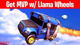 Get Mvp In Any Online Match With The Llama Wheels In Rocket League  Llama-rama Challenges