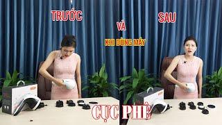 Máy massage cầm tay dùng pin sạc 8 đầu Puli PL-607DC3 - Hàn Quốc