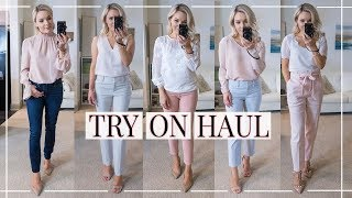 BUSINESS CASUAL TRY-ON HAUL + OUTFIT IDEAS   Shannon Sullivan