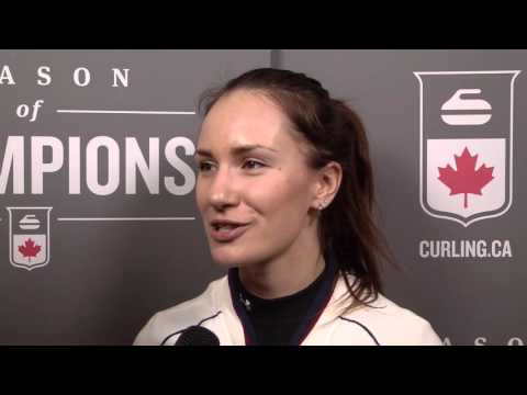 2016 Ford World Women's Curling Championship - Media Scrum -  Draw 14