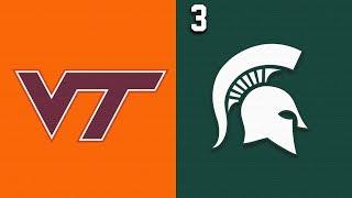 2019 College Basketball Virginia Tech vs #3 Michigan State Highlights