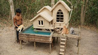 Collect Homeless And Abandoned Kittens Build Most Beautiful Cat Tree House And Fish Pond On The Tree