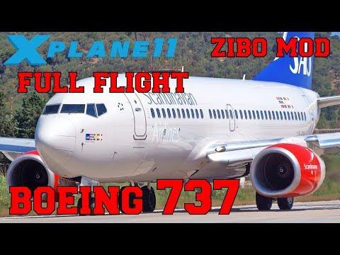 X-Plane 11) Zurich to Innsbruck - Boeing 737-800! - игровое видео
