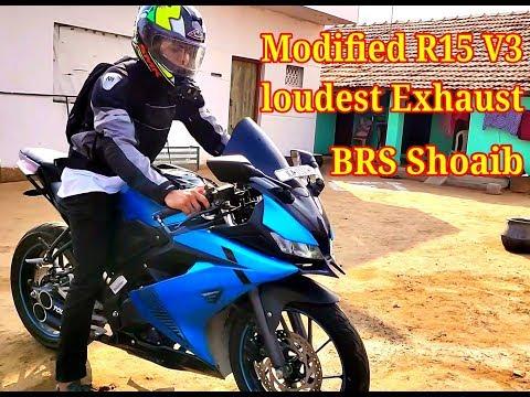 Modified Yamaha R15 V3 || BRS Shoaib Bike Roaring Exhaust
