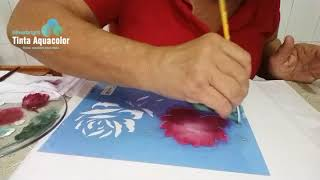 Pintura Em Tecido Com Stencil De Rosas